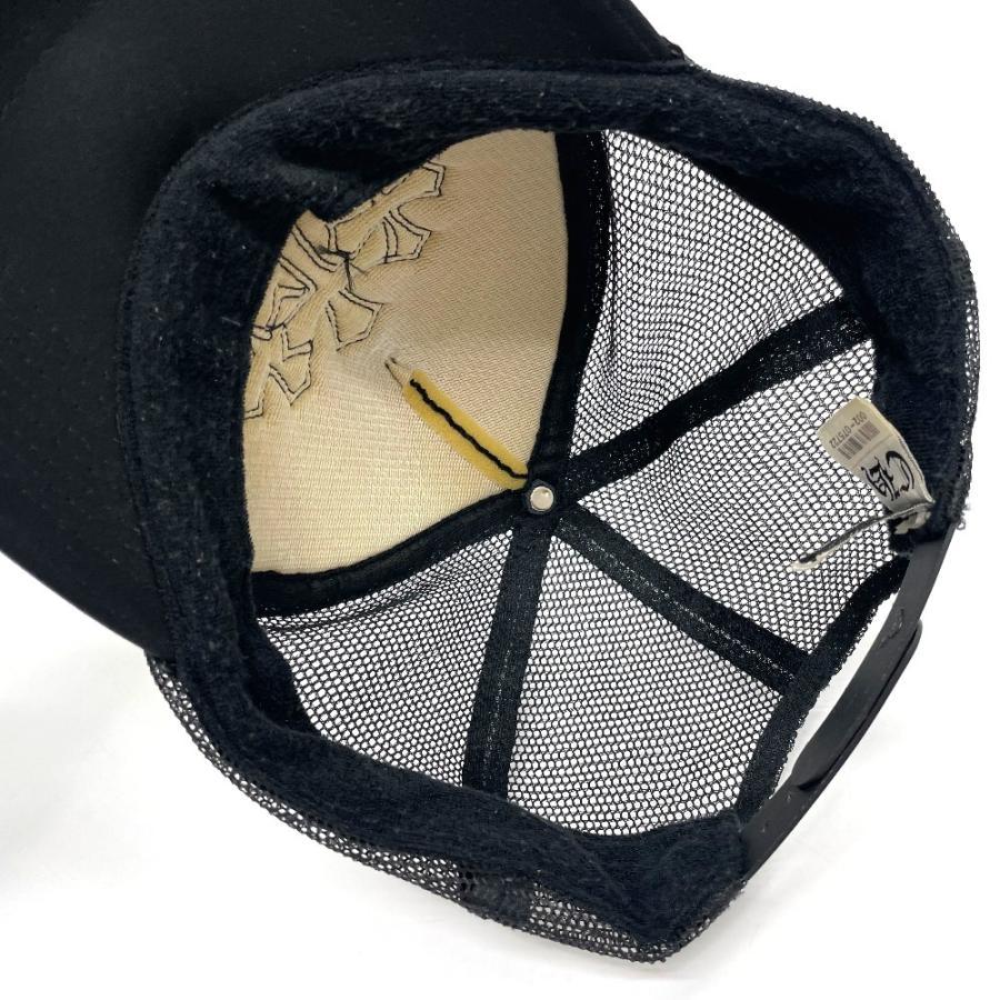 CHROME HEARTS クロムハーツ レザーパッチ 3セメタリークロス 帽子 ブラック メンズ 【中古】 reference 11