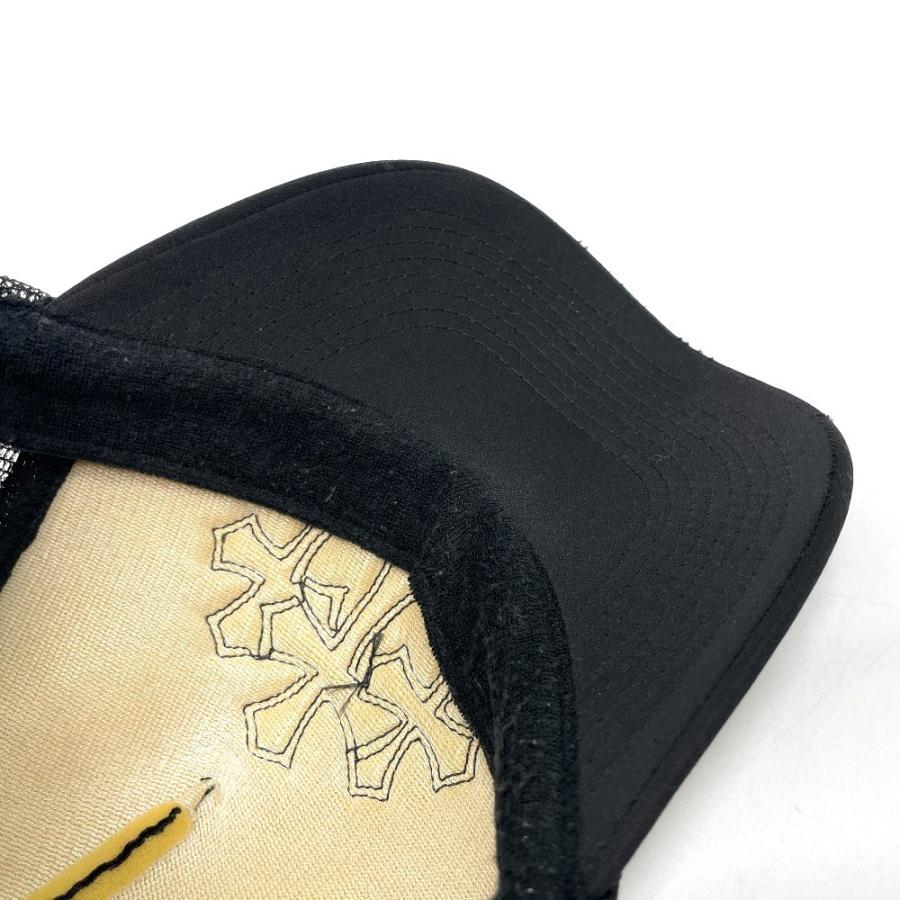 CHROME HEARTS クロムハーツ レザーパッチ 3セメタリークロス 帽子 ブラック メンズ 【中古】 reference 12