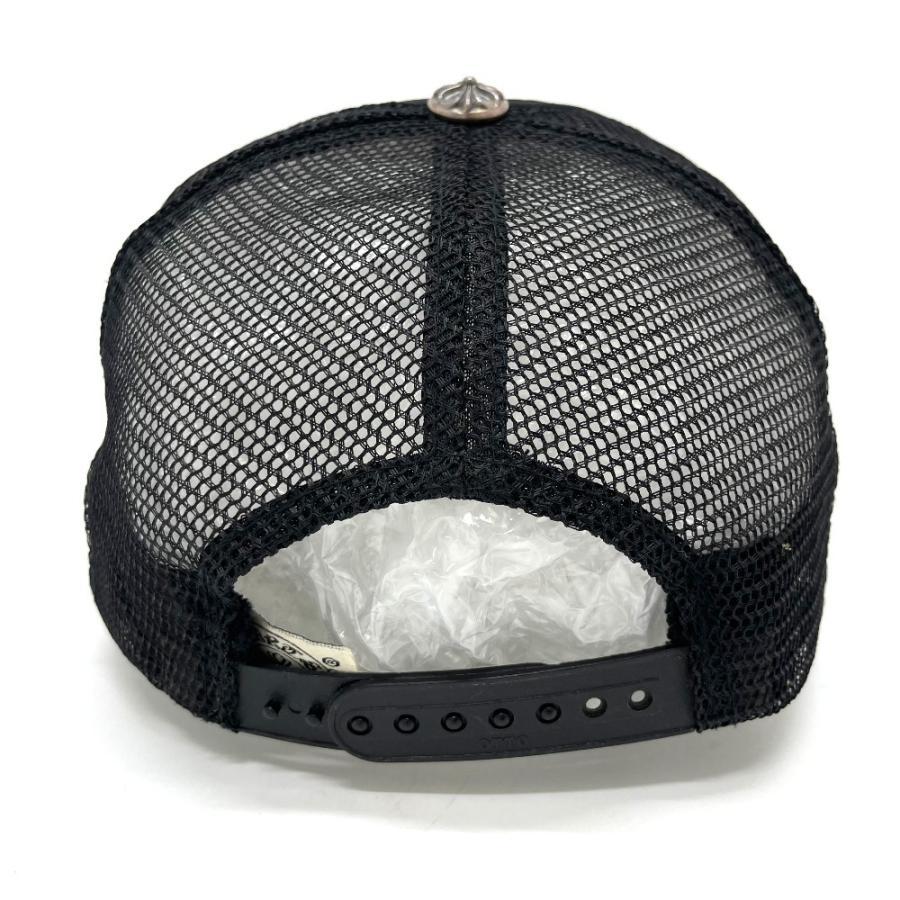 CHROME HEARTS クロムハーツ レザーパッチ 3セメタリークロス 帽子 ブラック メンズ 【中古】 reference 03