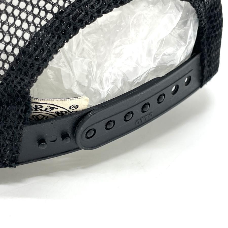 CHROME HEARTS クロムハーツ レザーパッチ 3セメタリークロス 帽子 ブラック メンズ 【中古】 reference 07