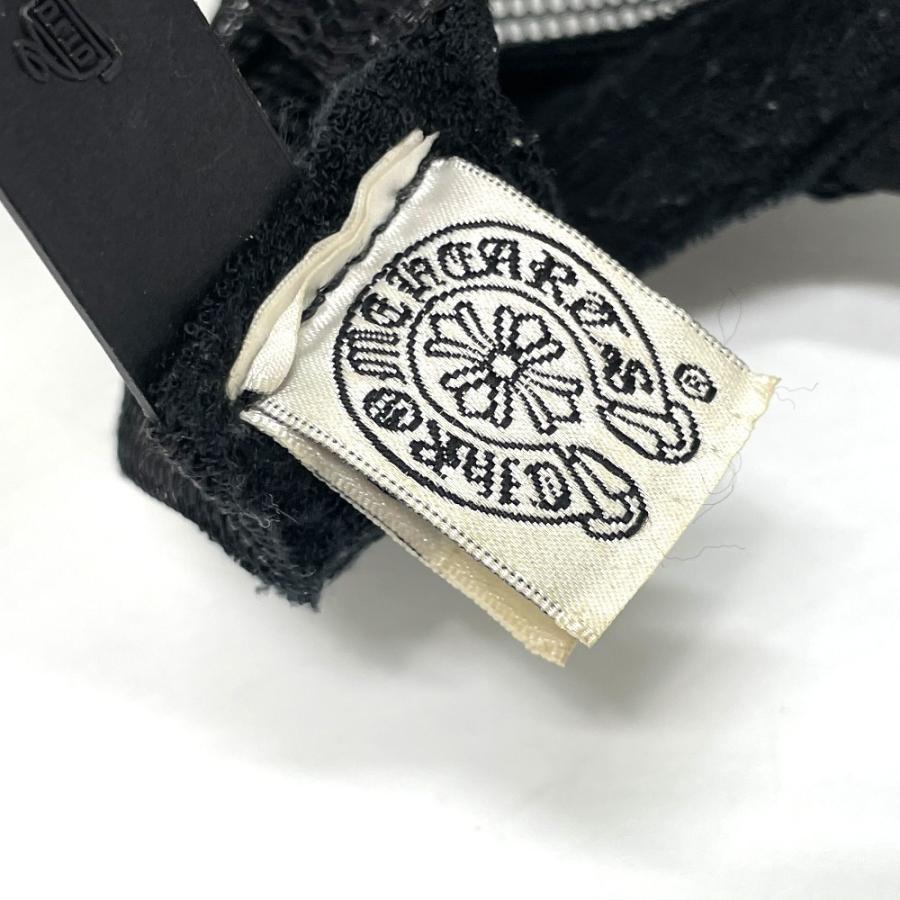 CHROME HEARTS クロムハーツ レザーパッチ 3セメタリークロス 帽子 ブラック メンズ 【中古】 reference 09