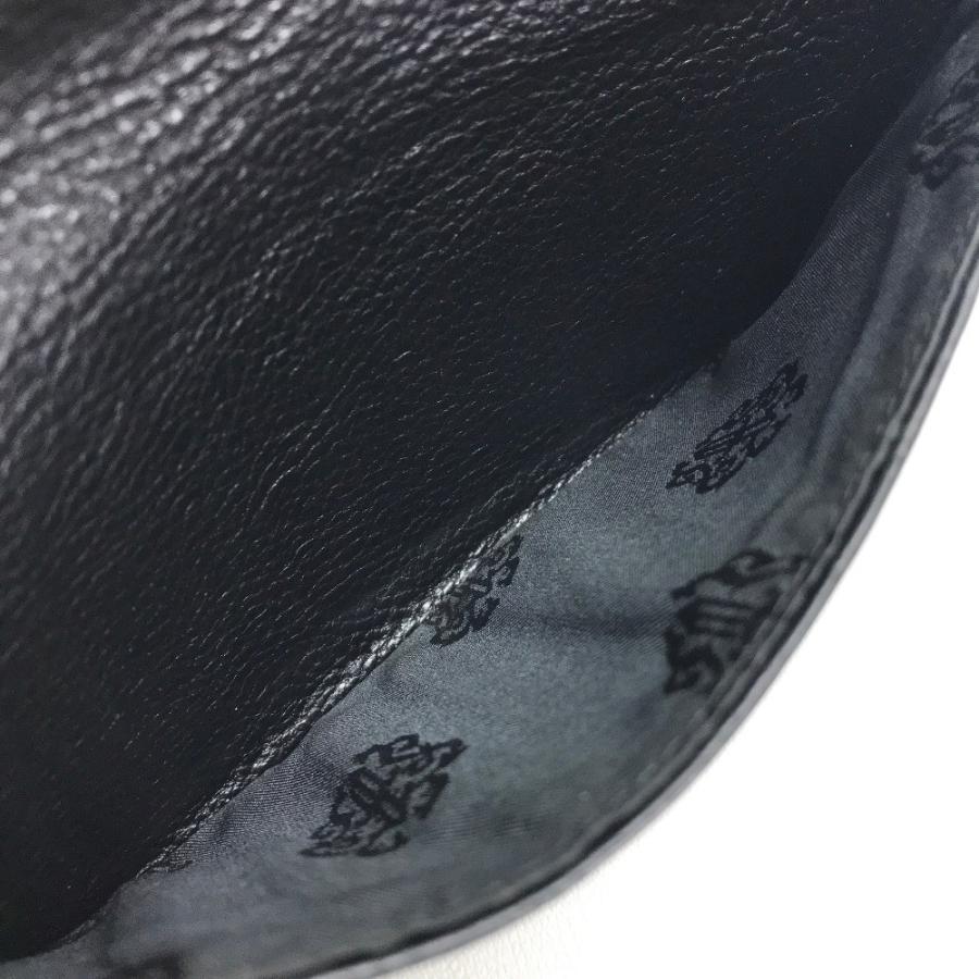 CHROME HEARTS クロムハーツ シングルフォールド  長財布(小銭入れなし) ブラック メンズ 【中古】 reference 08