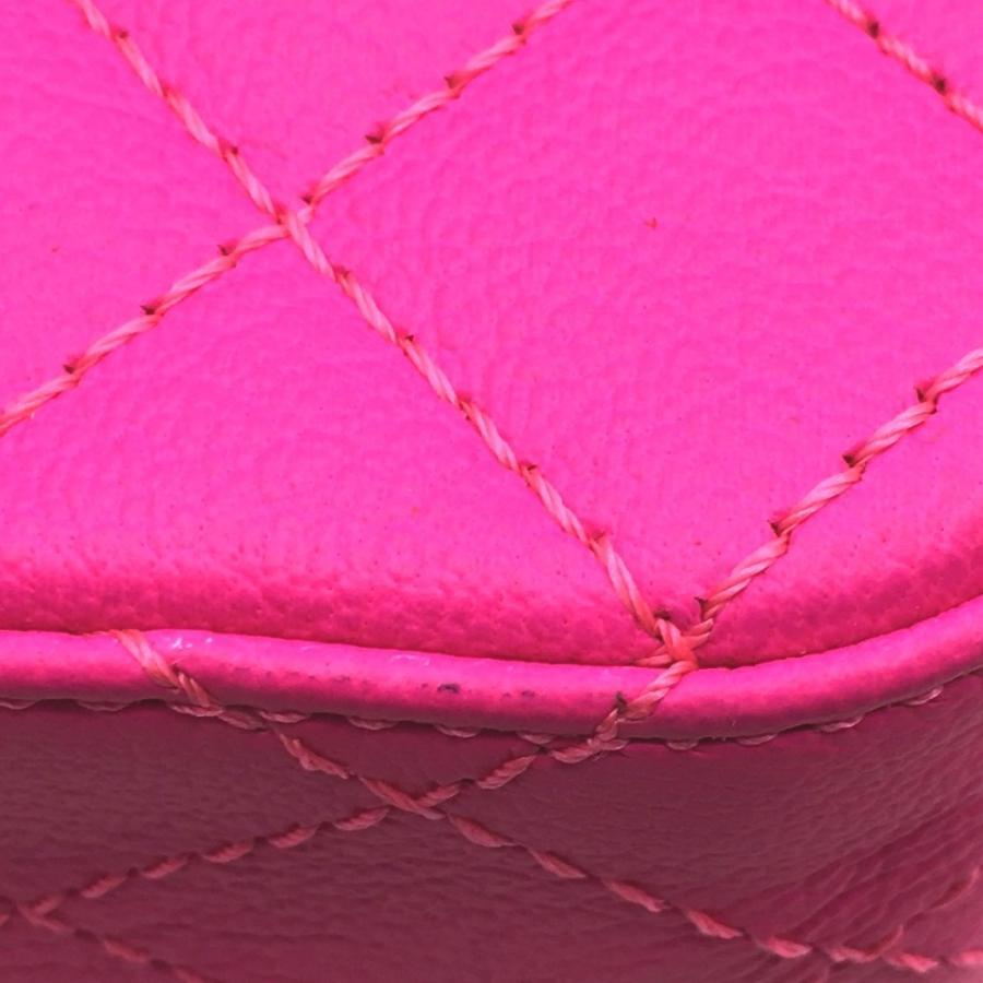 CHANEL シャネル 2.55 ミニ マトラッセ Wチェーン ショルダーバッグ ピンク ショッキングピンク レディース  未使用【中古】|reference|06