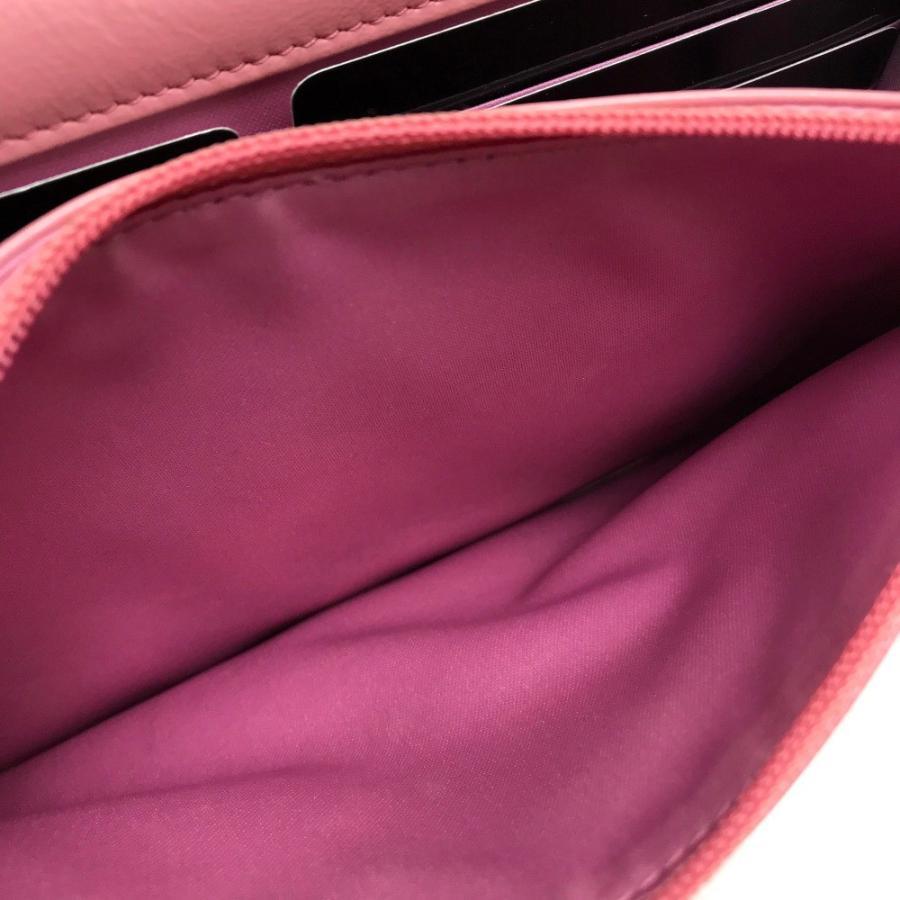 CHANEL シャネル A47421 チェーンウォレットバッグ カメリアエンボス ショルダーバッグ ピンク レディース 【中古】|reference|06