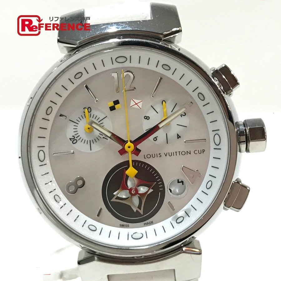 【大特価!!】 LOUIS VUITTON LOUIS ルイ・ヴィトン Q132C【】 クロノグラフ クロノグラフ レディース腕時計  腕時計 ホワイト レディース【】, プレコハウス:58dac073 --- airmodconsu.dominiotemporario.com