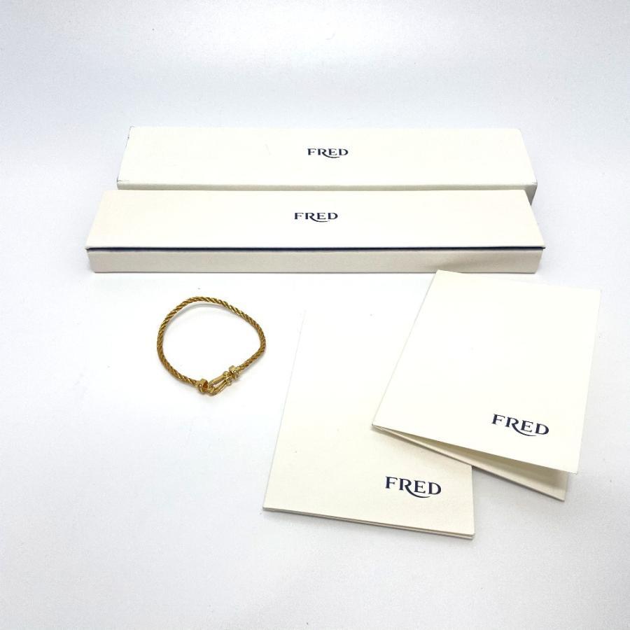 FRED フレッド フォース10 ミディアムモデル フルダイヤモンド ブレスレット K18YG ゴールド メンズ 【中古】 reference 10