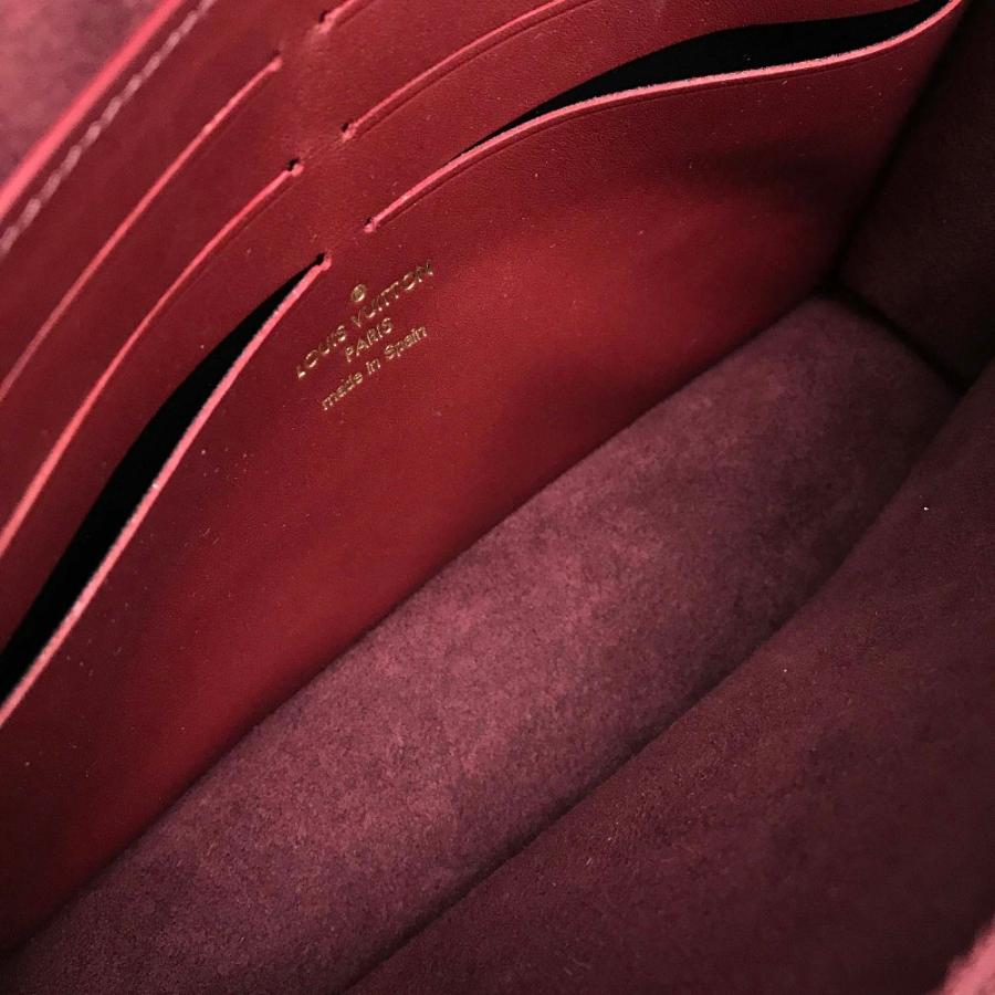 LOUIS VUITTON ルイヴィトン N60222 ポルトフォイユ・ヴァヴァン ダミエ クラッチバッグ エベヌ/ボルドー レディース  新品同様【中古】 reference 11