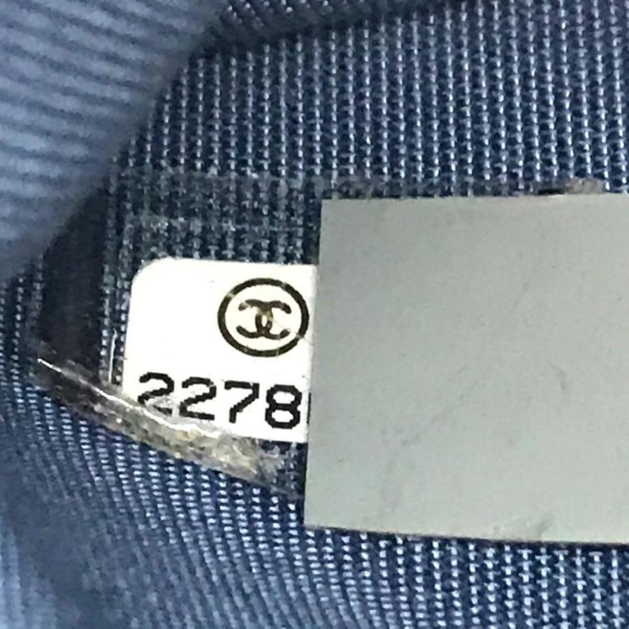 CHANEL シャネル A82527 マトラッセ CC ココマーク ショルダーバッグ ブルー×シルバー金具 レディース 【中古】|reference|14