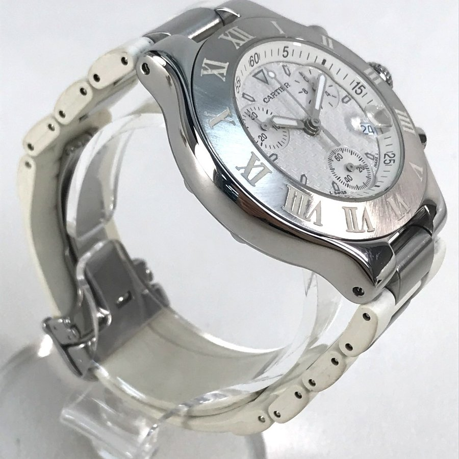 CARTIER カルティエ W10184U2 ヴァンテアン クロノスカフLM マスト21 腕時計 シルバー メンズ 【中古】 reference 03