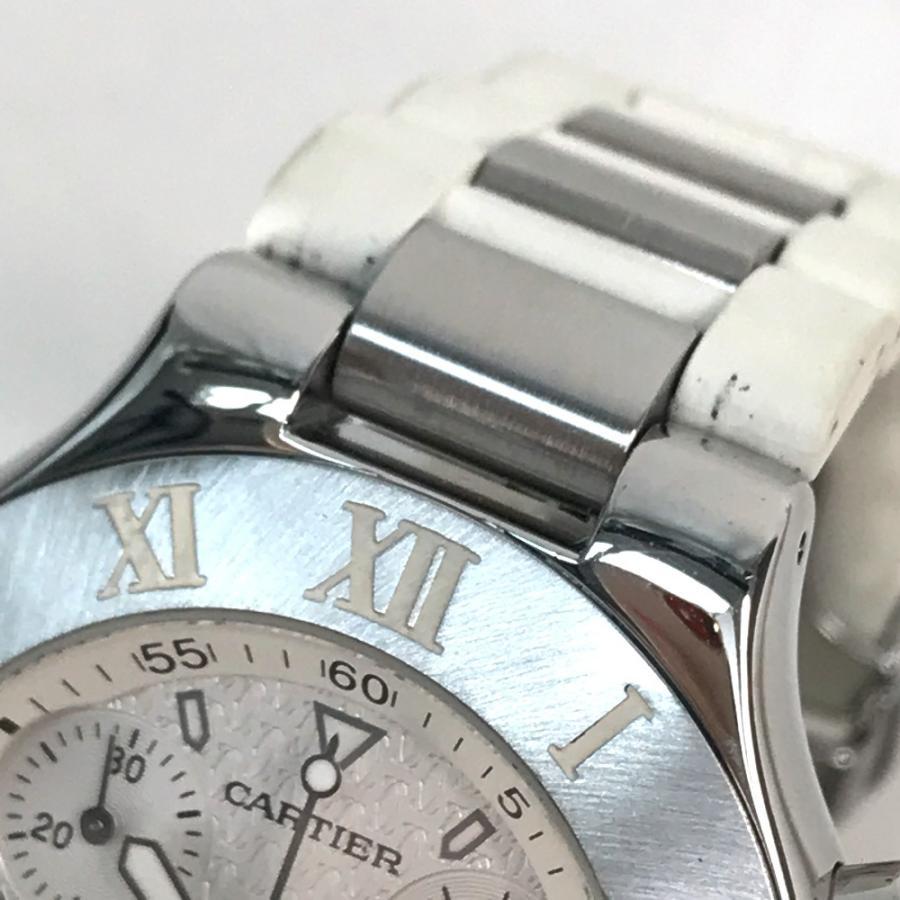 CARTIER カルティエ W10184U2 ヴァンテアン クロノスカフLM マスト21 腕時計 シルバー メンズ 【中古】 reference 04