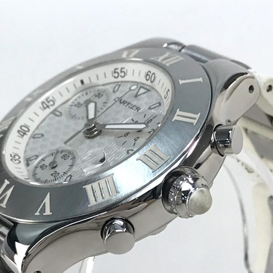 CARTIER カルティエ W10184U2 ヴァンテアン クロノスカフLM マスト21 腕時計 シルバー メンズ 【中古】 reference 05