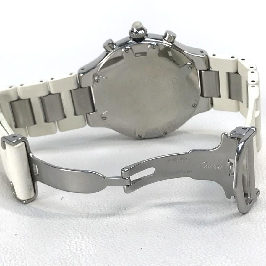 CARTIER カルティエ W10184U2 ヴァンテアン クロノスカフLM マスト21 腕時計 シルバー メンズ 【中古】 reference 07