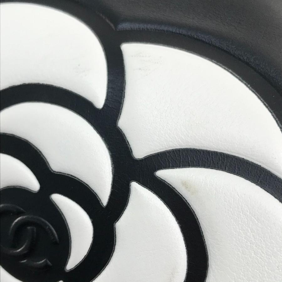 CHANEL シャネル カメリア&ロゴ CC ココマーク トートバッグ ブラック/ホワイト レディース 【中古】 reference 06