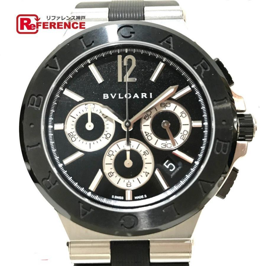 super popular 8bb49 e06cc BVLGARI ブルガリ メンズ DG42SCCH クロノグラフ 腕時計 メンズ ...