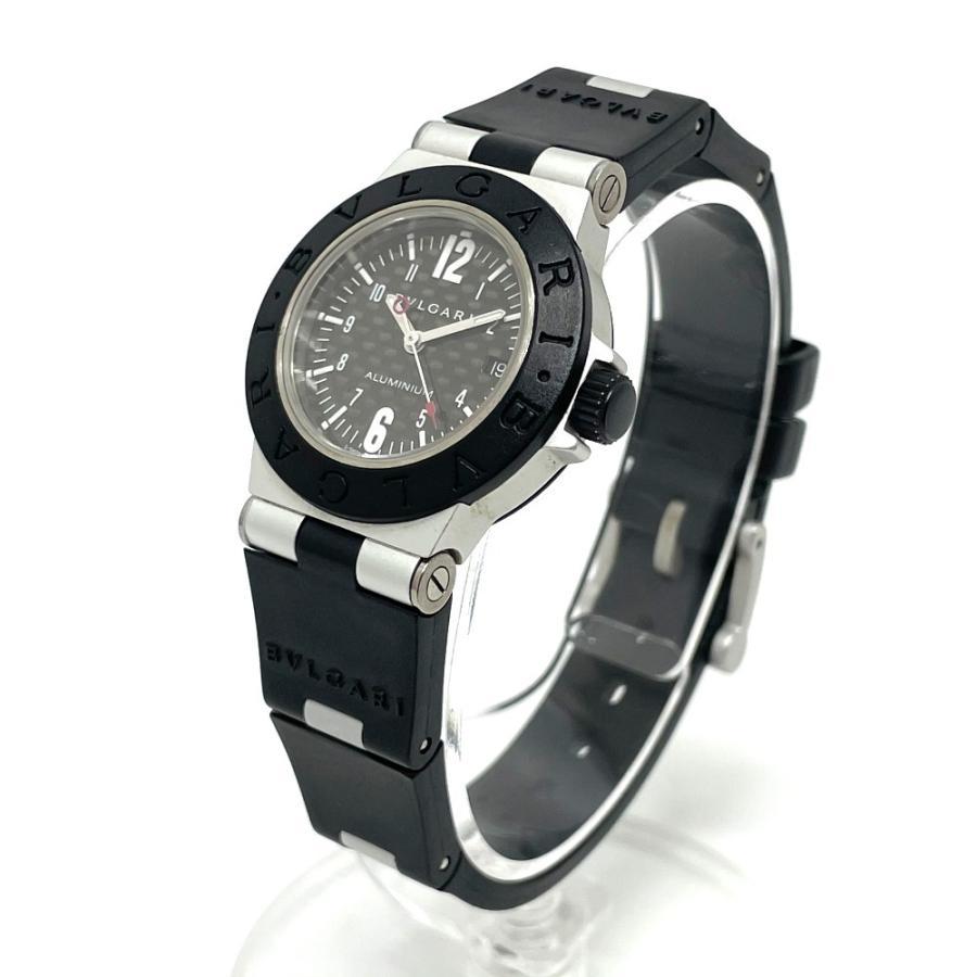 BVLGARI ブルガリ AL29TA アルミニウム デイト 腕時計 シルバー×ブラック レディース 【中古】 reference 02