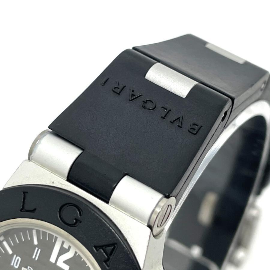 BVLGARI ブルガリ AL29TA アルミニウム デイト 腕時計 シルバー×ブラック レディース 【中古】 reference 04