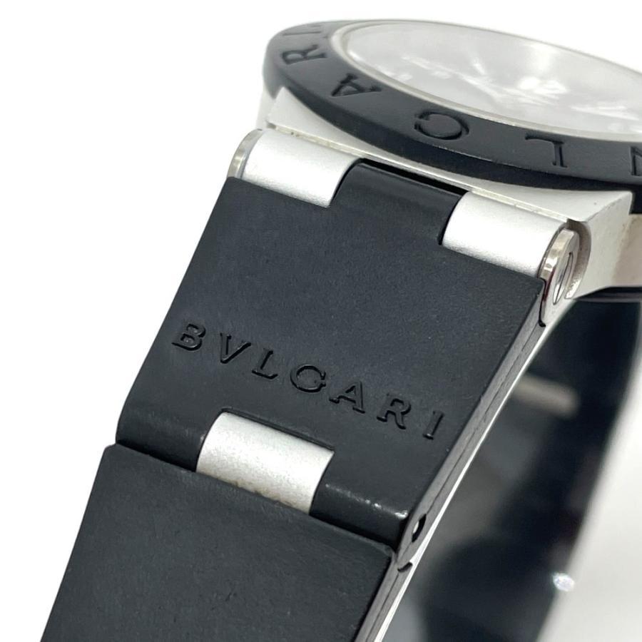 BVLGARI ブルガリ AL29TA アルミニウム デイト 腕時計 シルバー×ブラック レディース 【中古】 reference 05
