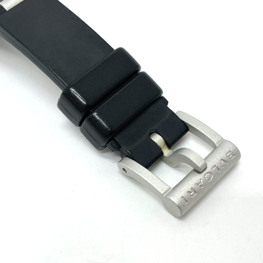 BVLGARI ブルガリ AL29TA アルミニウム デイト 腕時計 シルバー×ブラック レディース 【中古】 reference 08