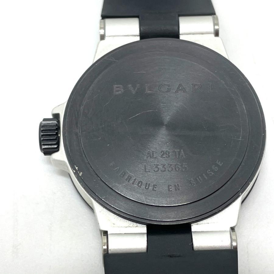 BVLGARI ブルガリ AL29TA アルミニウム デイト 腕時計 シルバー×ブラック レディース 【中古】 reference 10
