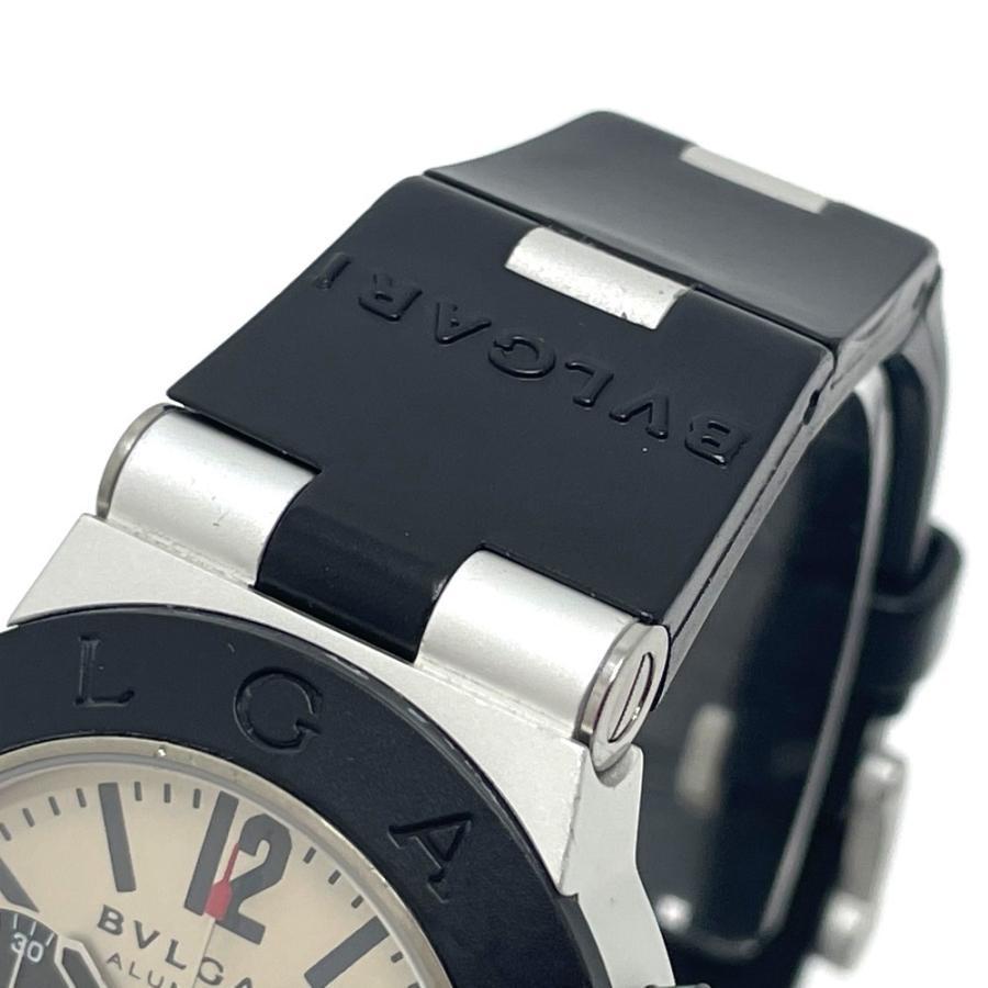 BVLGARI ブルガリ AC38TA アルミニウム クロノグラフ デイト 腕時計 ブラック×シルバー メンズ 【中古】 reference 04