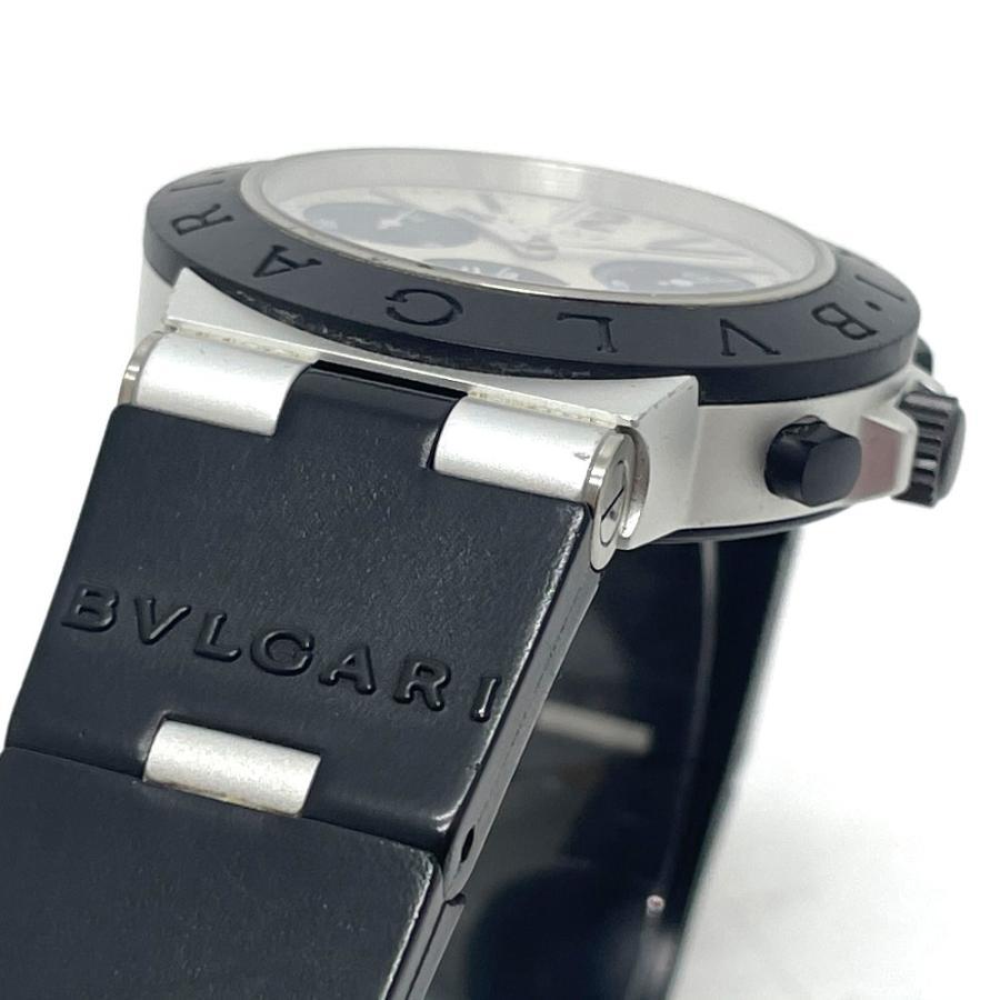 BVLGARI ブルガリ AC38TA アルミニウム クロノグラフ デイト 腕時計 ブラック×シルバー メンズ 【中古】 reference 05