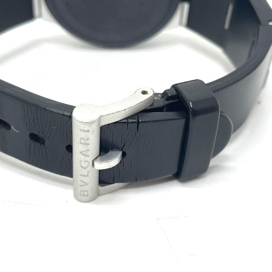 BVLGARI ブルガリ AC38TA アルミニウム クロノグラフ デイト 腕時計 ブラック×シルバー メンズ 【中古】 reference 07