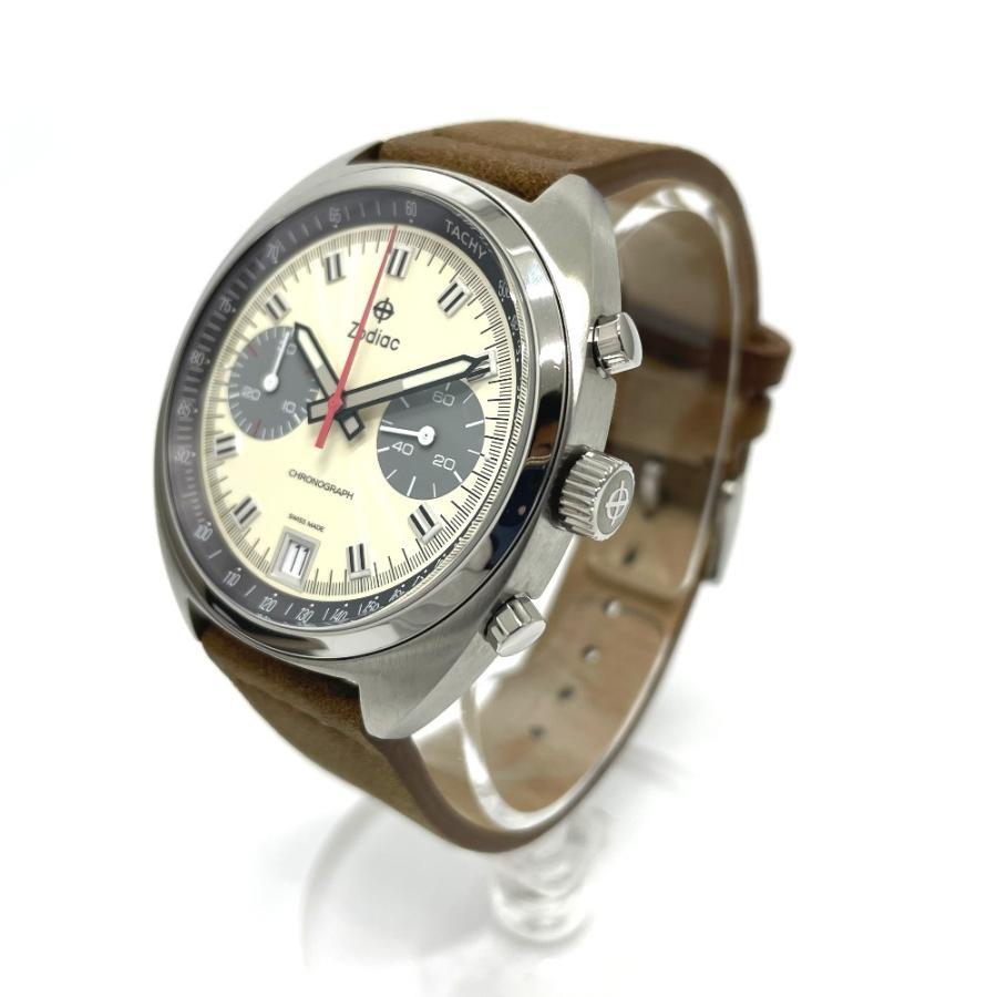 ZODIAC ゾディアック ZO9603 グランドラリー デイト クロノグラフ  腕時計 シルバー メンズ  新品同様【中古】|reference|02
