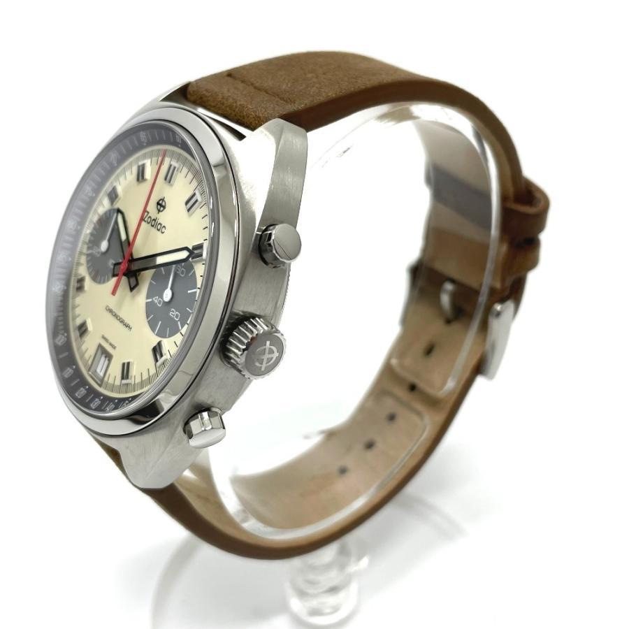 ZODIAC ゾディアック ZO9603 グランドラリー デイト クロノグラフ  腕時計 シルバー メンズ  新品同様【中古】|reference|03