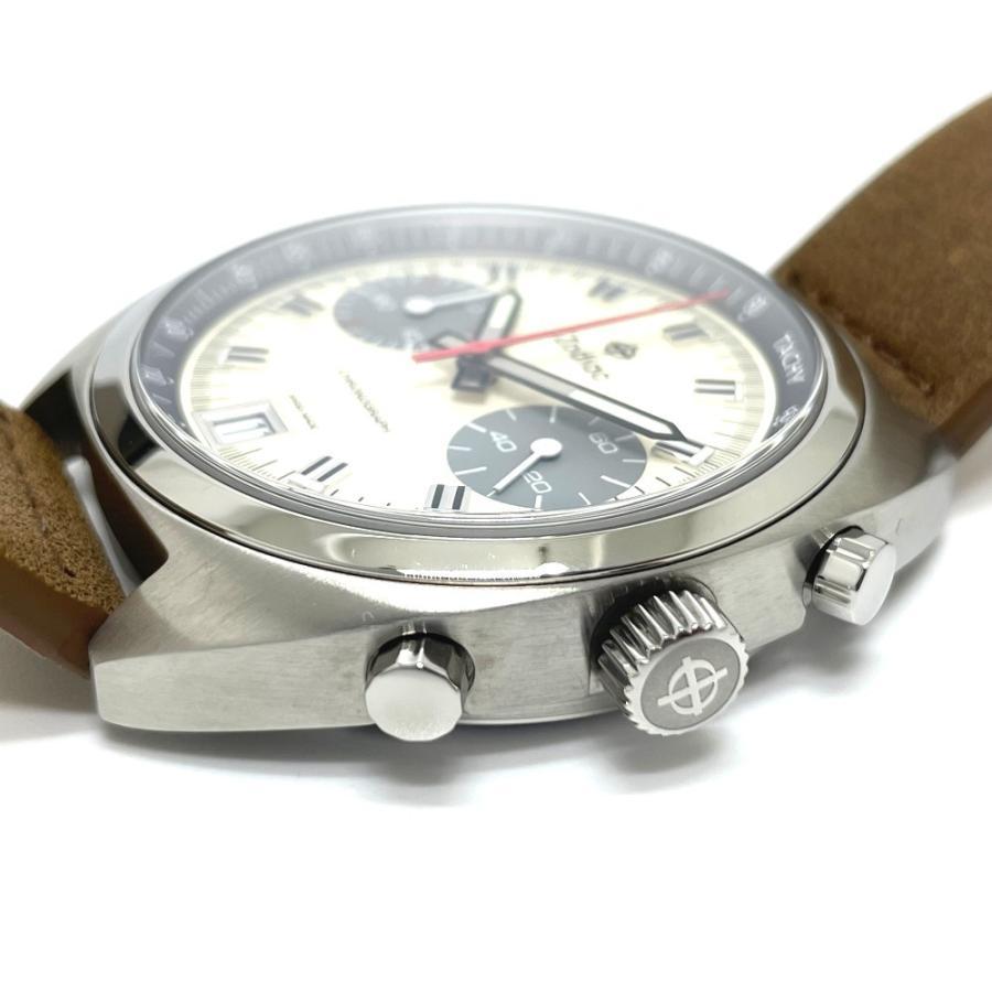 ZODIAC ゾディアック ZO9603 グランドラリー デイト クロノグラフ  腕時計 シルバー メンズ  新品同様【中古】|reference|05