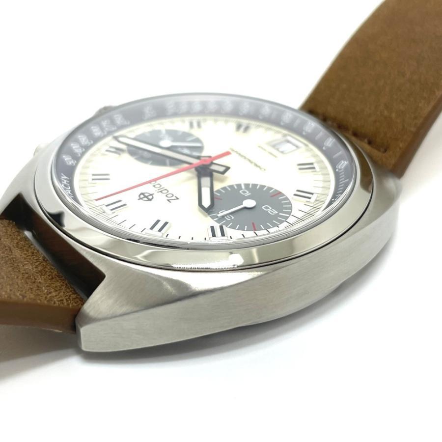 ZODIAC ゾディアック ZO9603 グランドラリー デイト クロノグラフ  腕時計 シルバー メンズ  新品同様【中古】|reference|07
