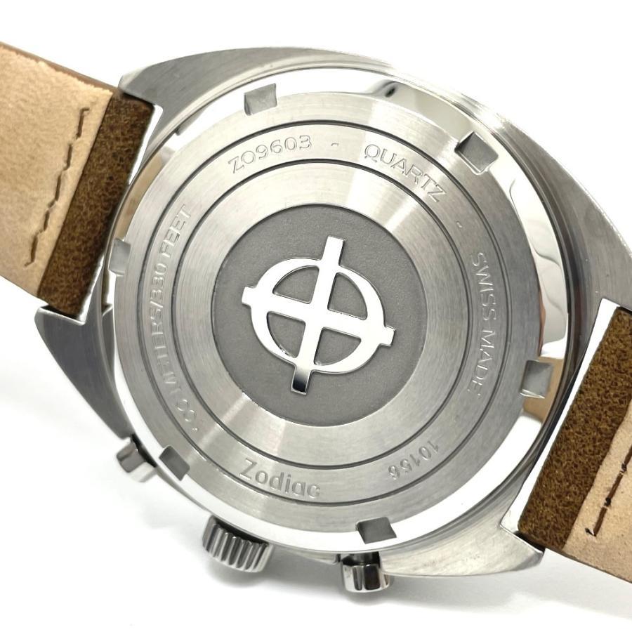 ZODIAC ゾディアック ZO9603 グランドラリー デイト クロノグラフ  腕時計 シルバー メンズ  新品同様【中古】|reference|08