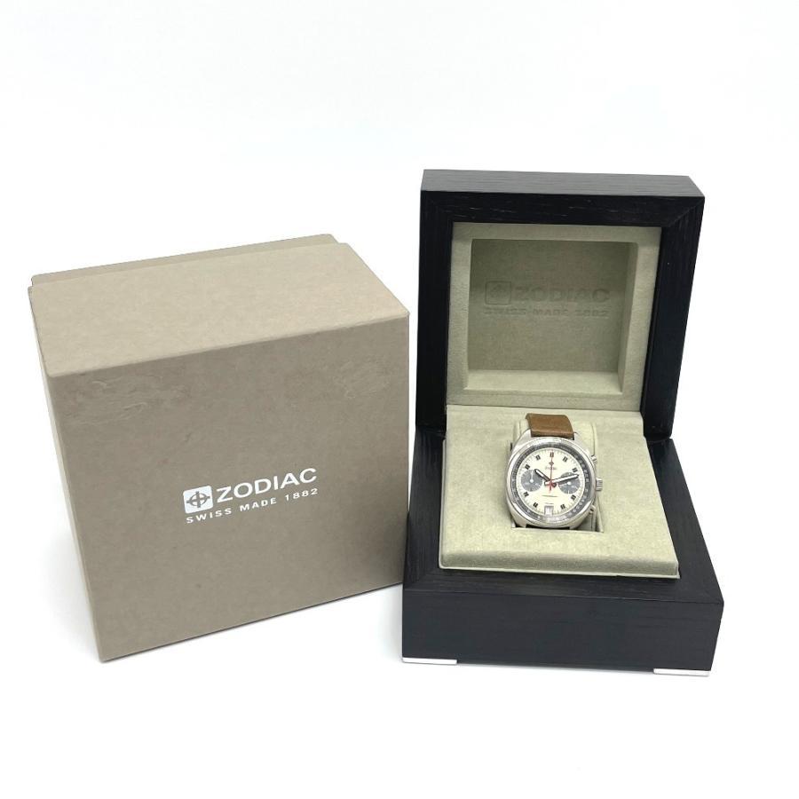 ZODIAC ゾディアック ZO9603 グランドラリー デイト クロノグラフ  腕時計 シルバー メンズ  新品同様【中古】|reference|10