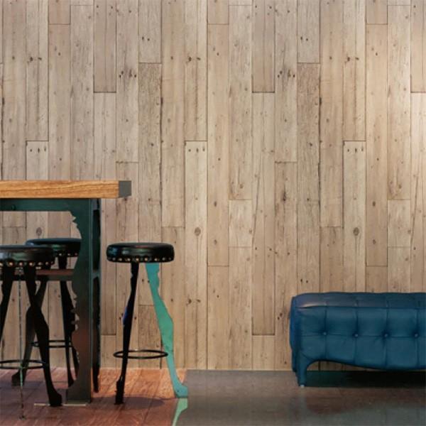 壁紙 シール壁紙 貼ってはがせる はがせる壁紙RILM 93cm幅オーダーカット 306 木目柄ベージュフェイドウッド 返品・交換不可 reform-myhome 02