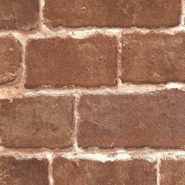 壁紙 シール壁紙 貼ってはがせる はがせる壁紙RILM 93cm幅オーダーカット 508 レンガ柄ブラウン リメイクシート 返品・交換不可|reform-myhome|03