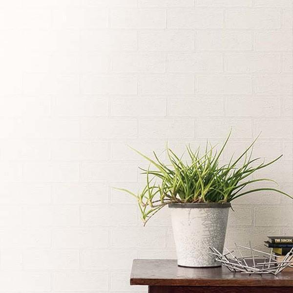 壁紙 シール壁紙 貼ってはがせる はがせる壁紙RILMベーシック 93cm幅オーダーカット 911 ホワイトレンガ 返品・交換不可|reform-myhome|03