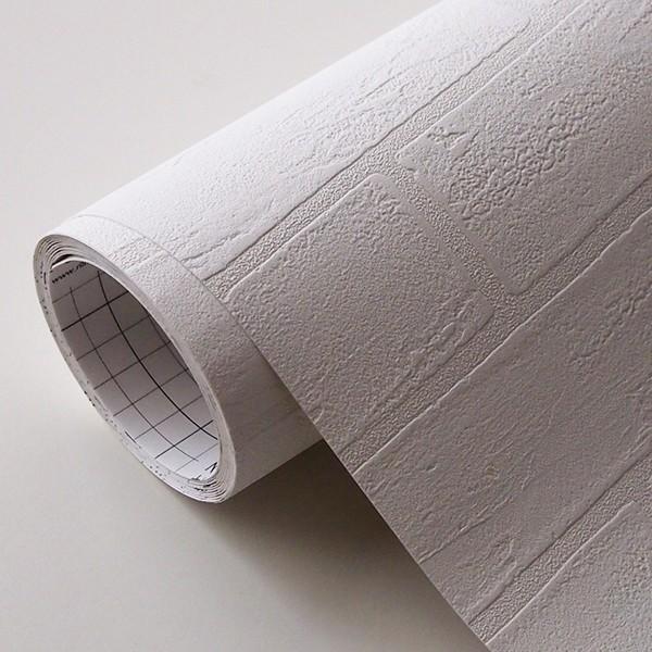 壁紙 シール壁紙 貼ってはがせる はがせる壁紙RILMベーシック 93cm幅オーダーカット 911 ホワイトレンガ 返品・交換不可|reform-myhome|05