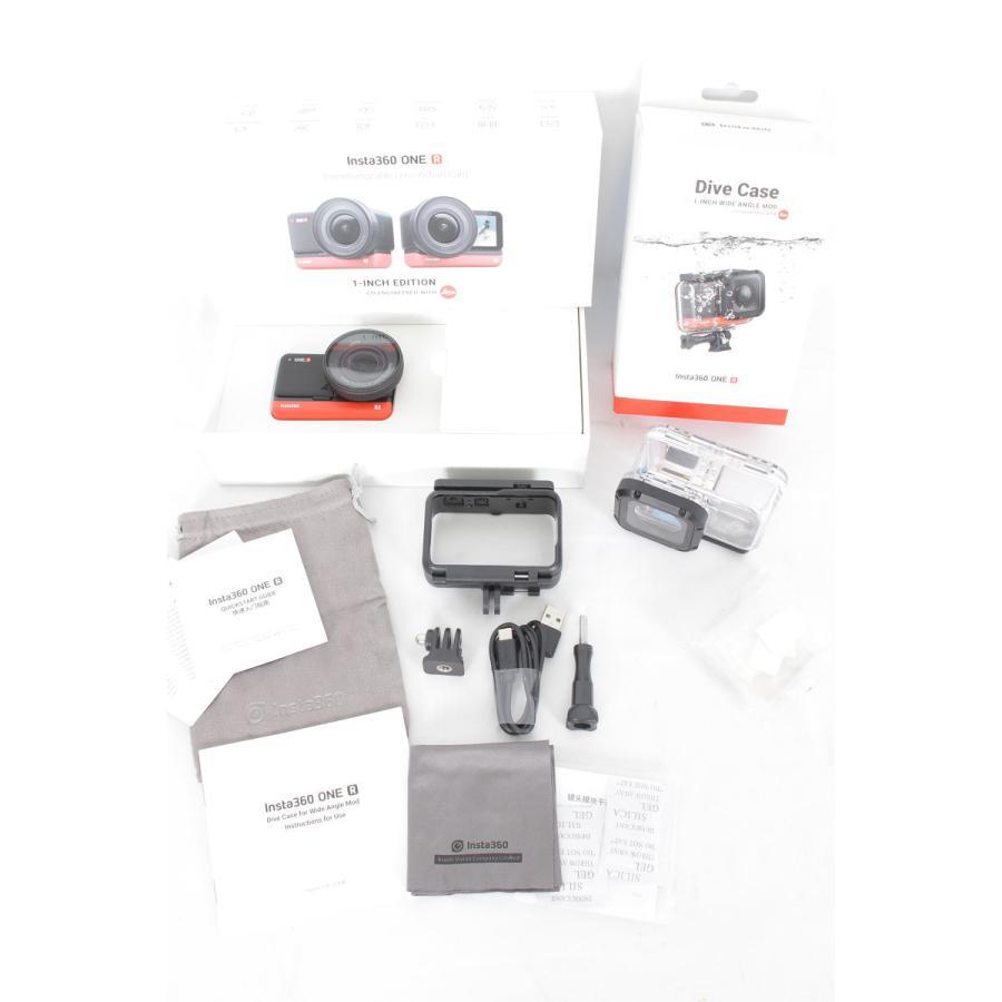 【美品】Insta360 ONE R 1-Inch Edition 潜水ケース付き CINAKGP/B Leica 1インチ広角レンズモジュール アクションカメラ インスタ360