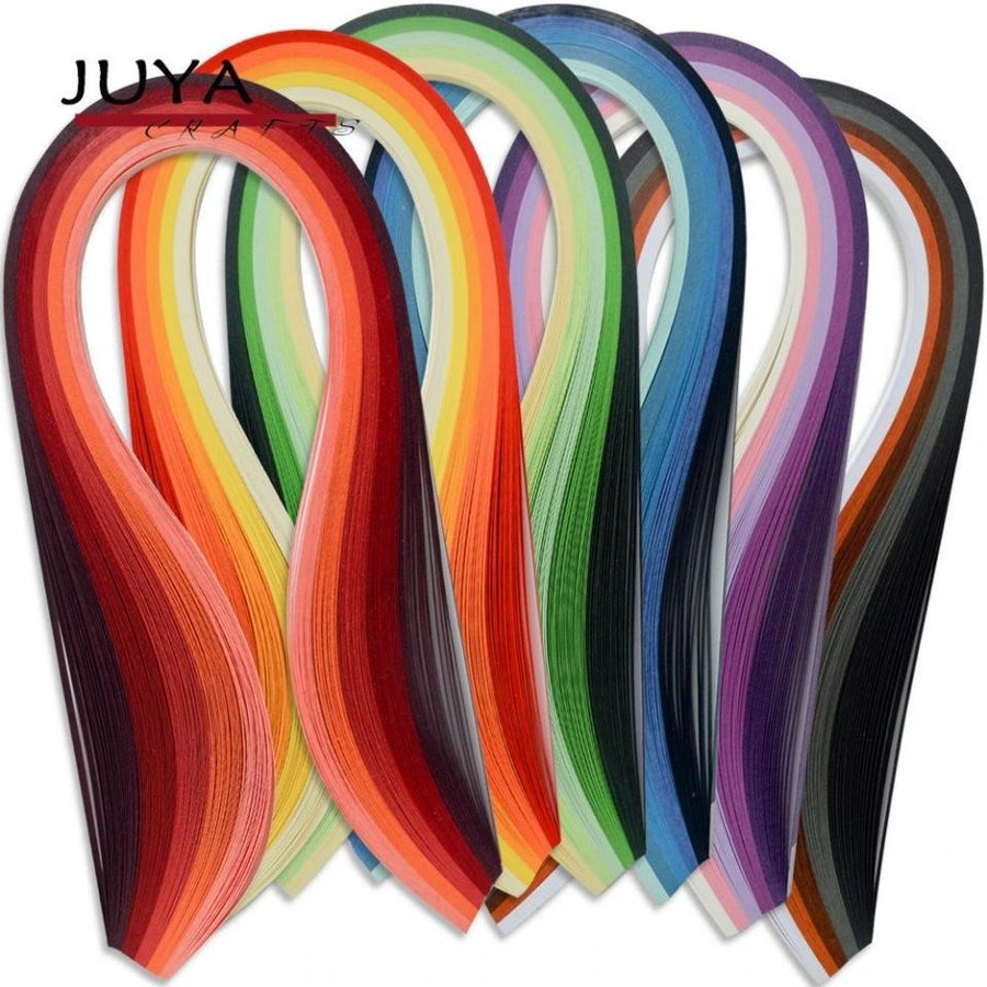 Paper Width:3mm, Pink Tools Juya Paper Quilling Kits with 30 Colors 600 Strips and 8 Tools