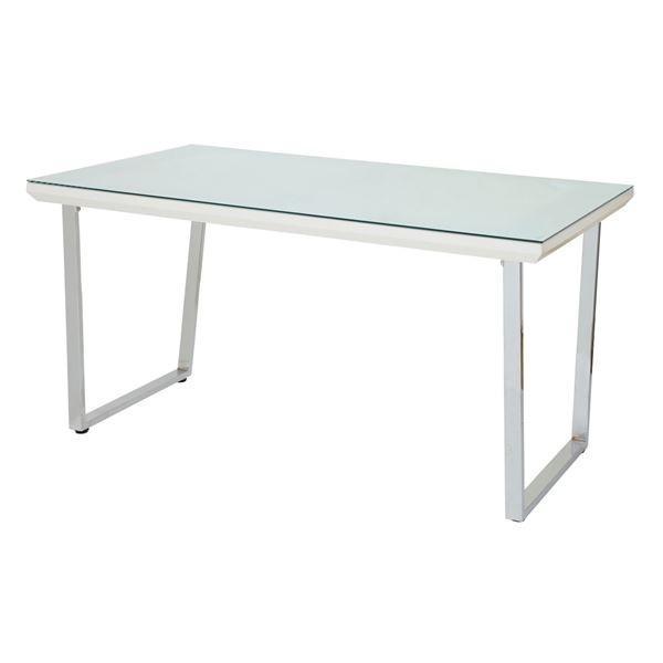 あずま工芸 ダイニングテーブル ダイニングテーブル 幅135cmガラス天板 GDT-7691