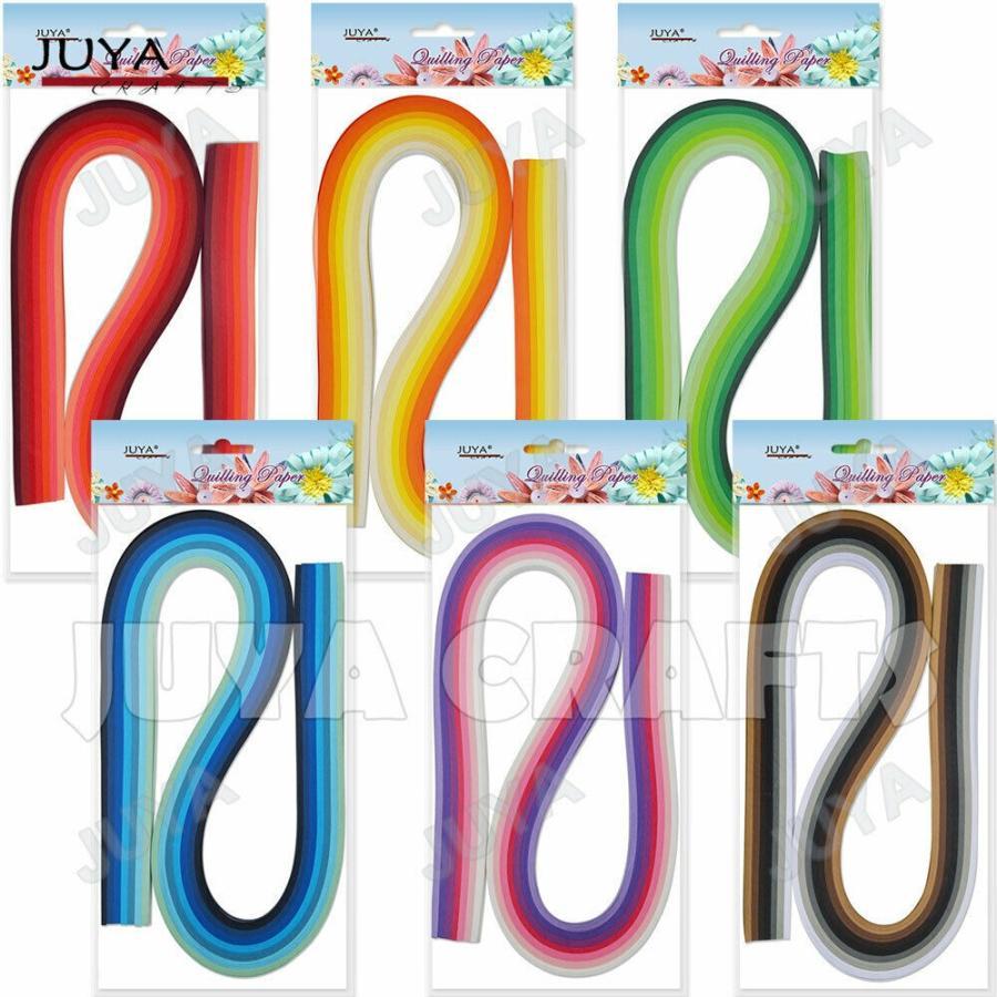 《単品販売》JUYA ハイクオリティ 3mm クイリングペーパー ミックス6種 限定タイムセール 7色 140本 54cm