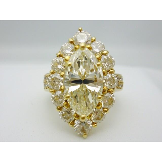 本物品質の K18×マーキースダイヤモンド4.01ctVLYVVS2×ダイヤモンド合計3.07ct ゴールドリング レディース ジュエリー ジュエリー 極極稀 極極稀, teaon 京都:c3e62a40 --- airmodconsu.dominiotemporario.com