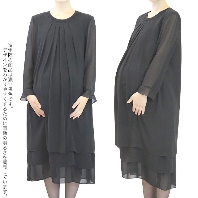 礼服レンタル、喪服レンタル (mata-s) ~5点セット~ マタニティにおすすめ。お腹まわりゆったりのワンピース|reifuku|05