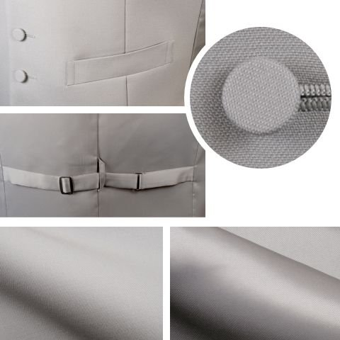 A体 フォーマルベスト モーニングコート用 シルバーグレー メンズ 日本製 V763-A|reisouclub|04