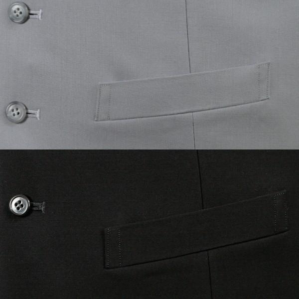 リバーシブル フォーマルベスト メンズ シルバーグレー ブラック 日本製 ベスト ジレ VR710 reisouclub 04