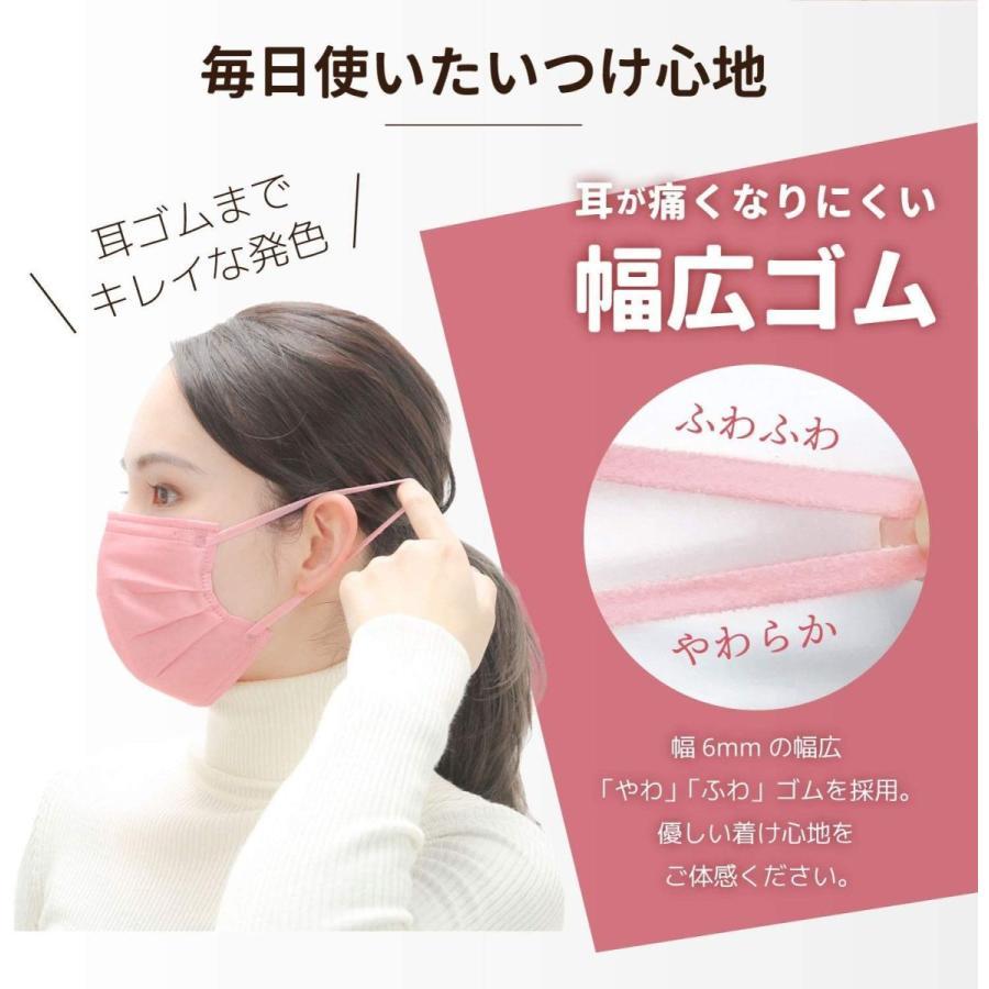 ISDG 医食同源ドットコム スパンレース不織布カラーマスク 個包装 7枚入り ピンク 4袋セット|reiwa-mall|03