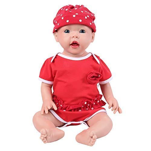 IVITA 新生児人形 フルシリコン製ベビードール 本物のリボーンベビードール フルウェイト本物の赤ちゃん人形 リアルな赤ちゃん人形 (50cm 女の