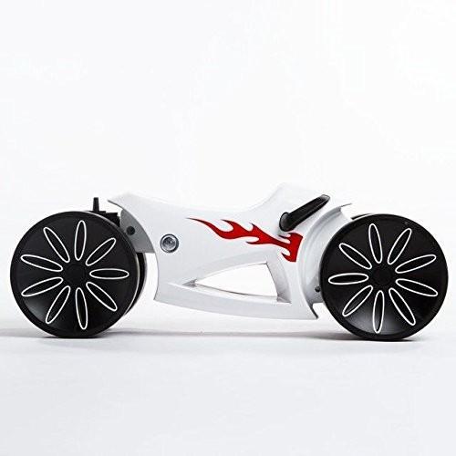 ベビーバイクyoMOTO レッド プリンスライオンハート 4輪車 乗り物のおもちゃ/足漕ぎ/1歳 2歳 3歳/のりもの/バランス感覚を養う