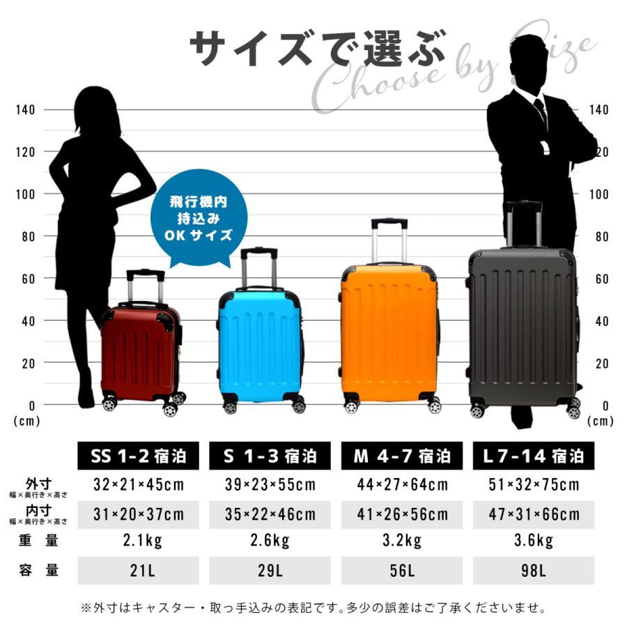 スーツケース Lサイズ 容量98L TSAロック キャリーバッグ 軽量 キャリーケース suitcase 大型 size reluxys 13