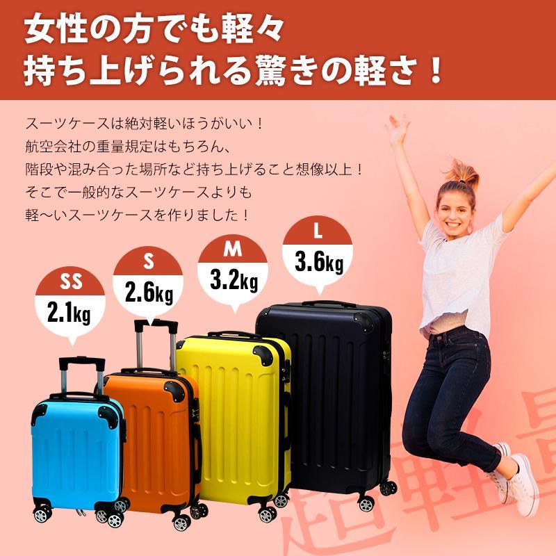 スーツケース SSサイズ TSAロック suitcase キャリーバッグケース 機内持ち込み かわいい 静音 ダブルキャスター 8輪 軽量|reluxys|04