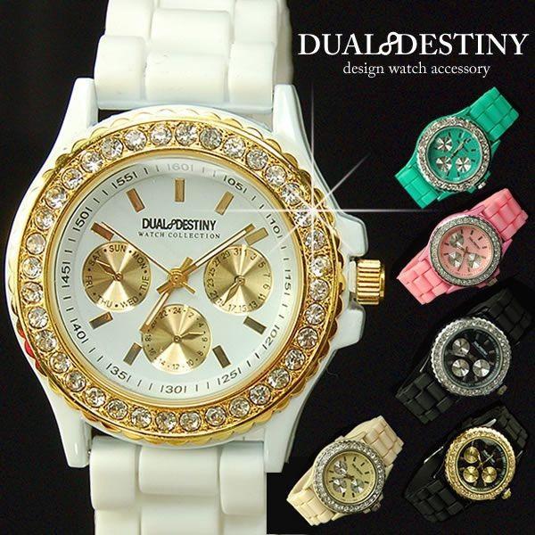 03c6f56aa5 腕時計 メンズ レディース レディス 腕時計 イミテーションクロノ ジュエリーウォッチ remake ...